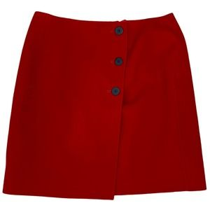 New Talbots Petites Wool Skirt Red Size 16 Lined